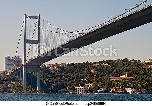 Bosporus bridge in Istanbul - csp24658994