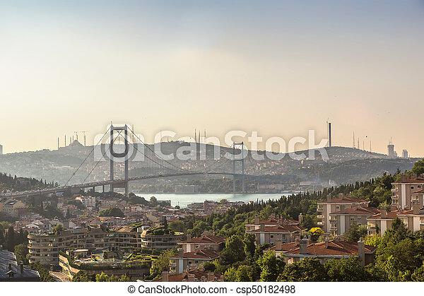 Bosporus bridge in Istanbul - csp50182498