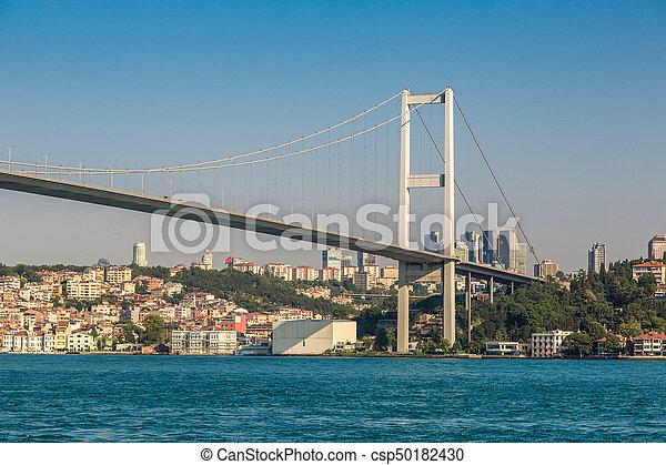 Bosporus bridge in Istanbul - csp50182430