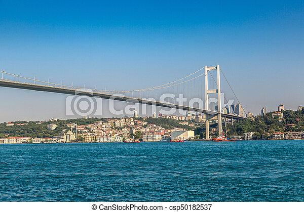 Bosporus bridge in Istanbul - csp50182537