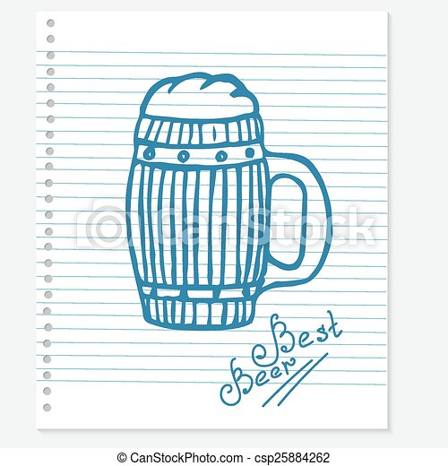 Una cerveza - csp25884262