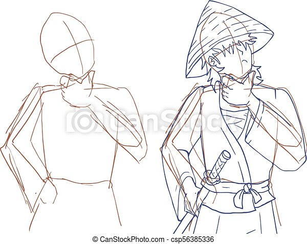 Sketch man Draw - csp56385336