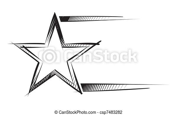 Estrella en boceto - csp7483282