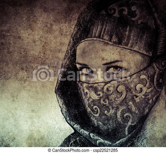 Ilustracin de archivo de bosquejo hecho tableta digital mujer
