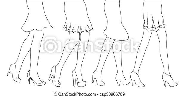 Dibujo femenino - csp30966789