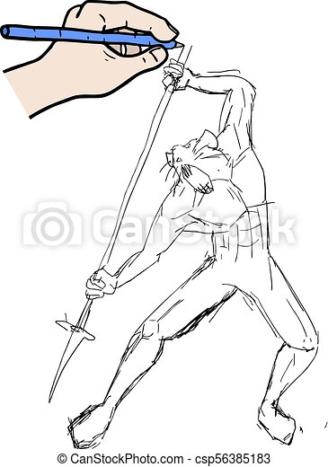 Dibujo de caza animal - csp56385183