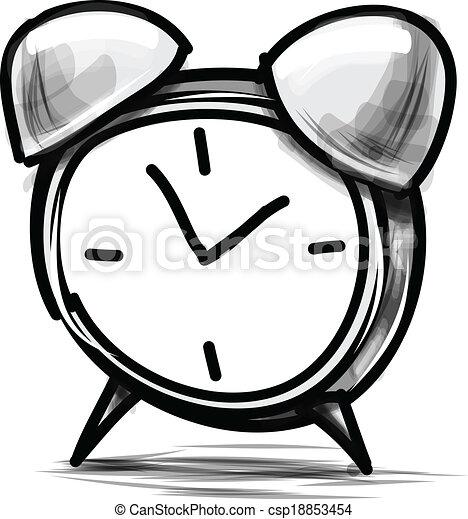Ilustración de vectores de dibujo animado de alarma - csp18853454
