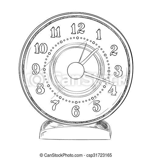 Un boceto del reloj - csp31723165