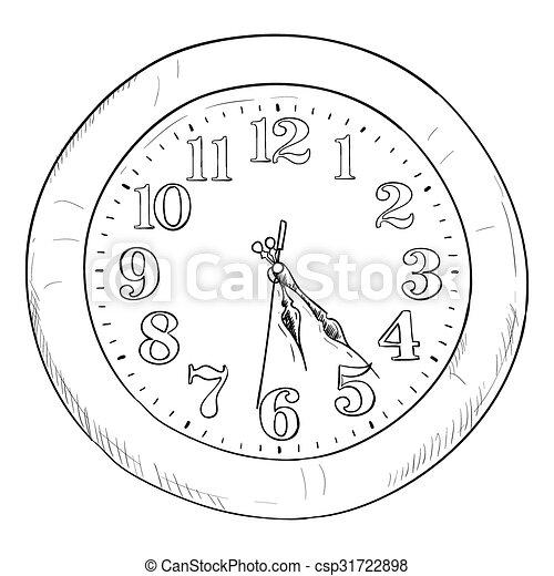 Un boceto del reloj - csp31722898