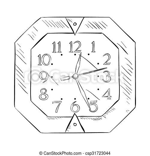 Un boceto del reloj - csp31723044
