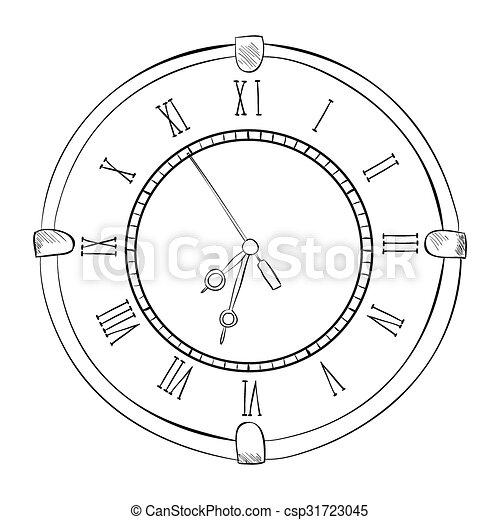 Un boceto del reloj - csp31723045