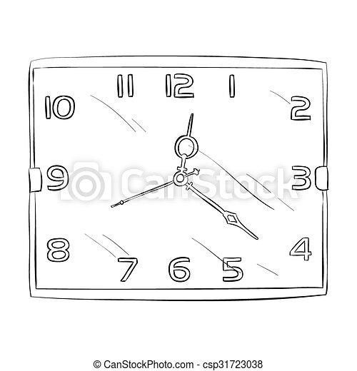 Un boceto del reloj - csp31723038
