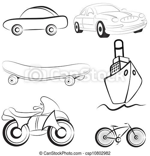 Ilustración vectorial de transporte - csp10802982
