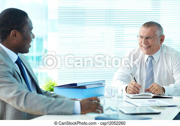 Boss and employee - csp12052260