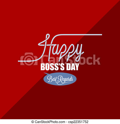 boss day vintage background - csp22351752