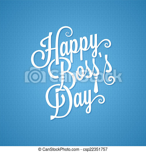 boss day vintage lettering background - csp22351757