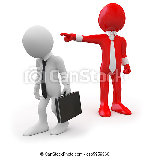 Boss dismissing an employee - csp5959360