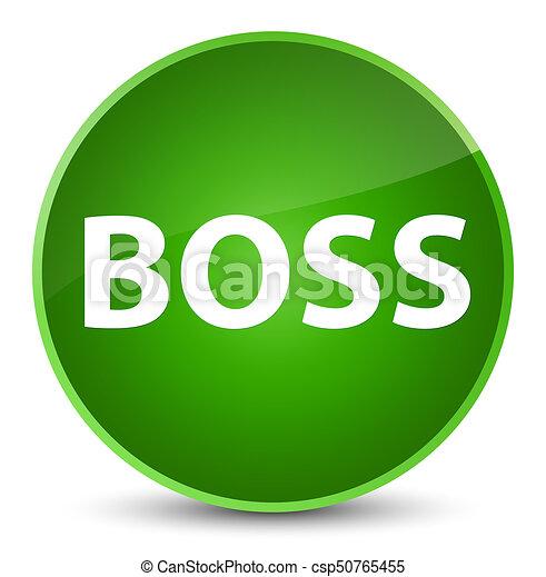 Boss elegant green round button - csp50765455