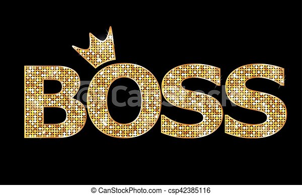 BOSS, gold letters - csp42385116