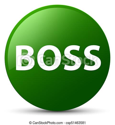 Boss green round button - csp51463581