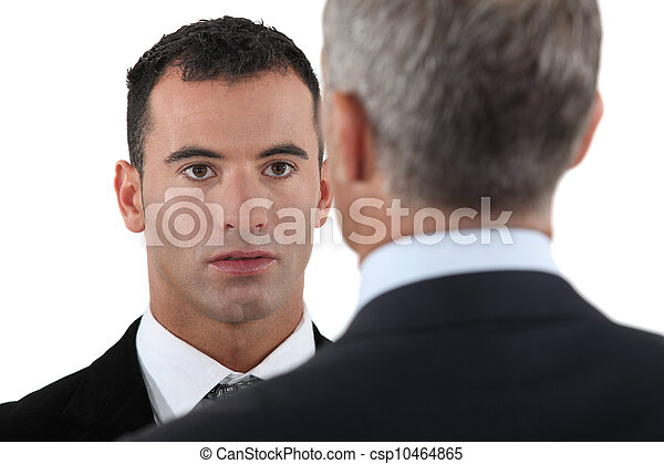 Boss having chat with employee - csp10464865
