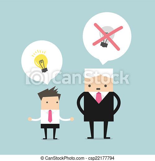 Boss killing the ideas - csp22177794