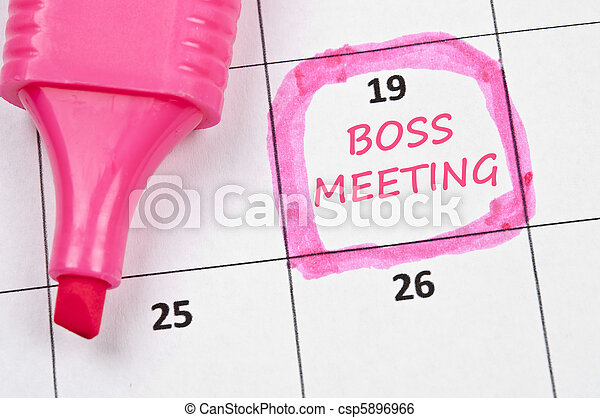 Boss meeting mark - csp5896966