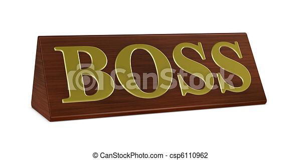 Boss nameplate - csp6110962
