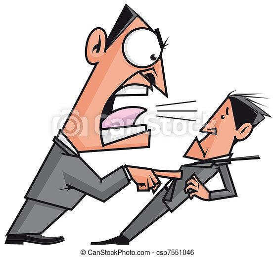 Boss screaming his employee - csp7551046