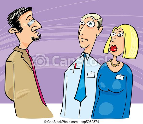 Boss talking to employees - csp5960874