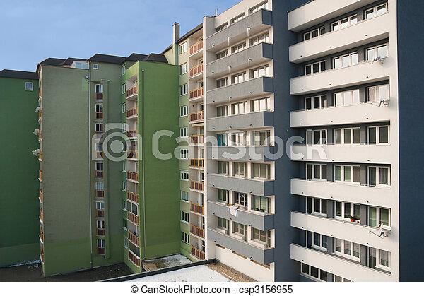 bostads, bebyggelse - csp3156955