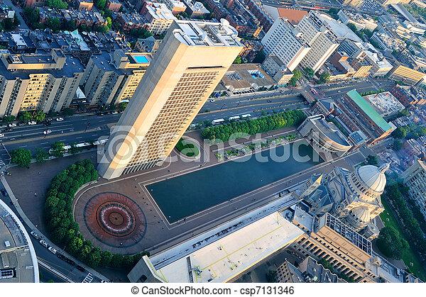 Boston aerial view - csp7131346