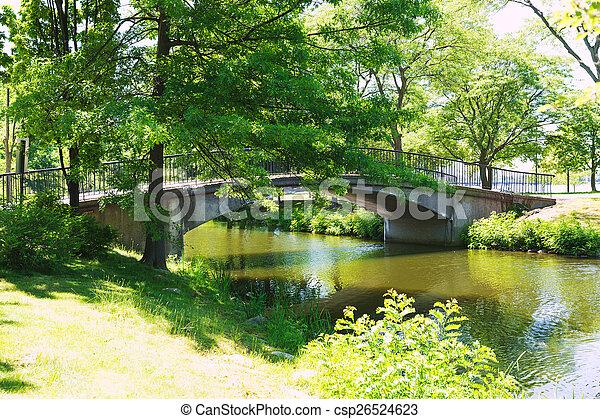Boston Charles River at The Esplanade - csp26524623