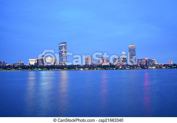 Boston City Lights - csp21663340