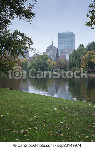 Boston Common Public Garden - csp23149974