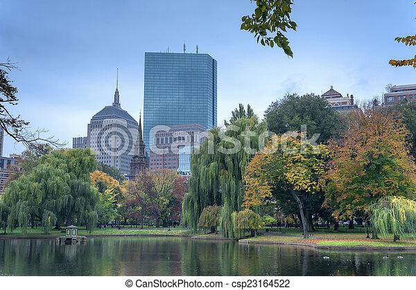 Boston Common Public Garden - csp23164522