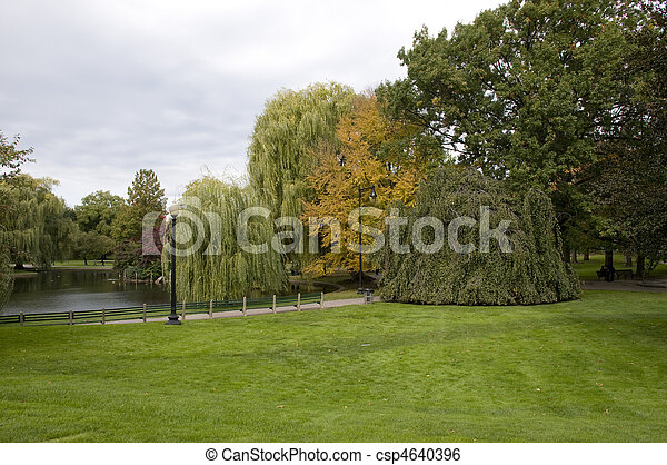 Boston Commons Park in the Fall - csp4640396