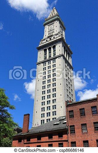 Boston Custom House - csp86686146