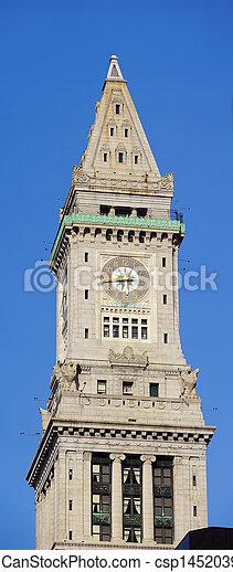 Boston Custom House - csp14520393