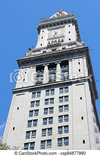Boston Custom House - csp84877990