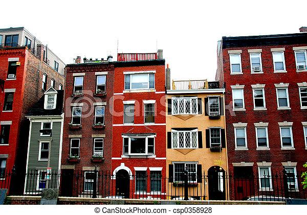 Boston houses - csp0358928
