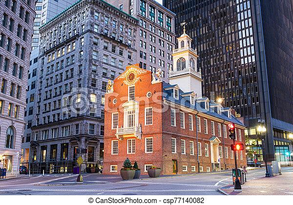 Boston, Massachusetts, USA Old State House - csp77140082