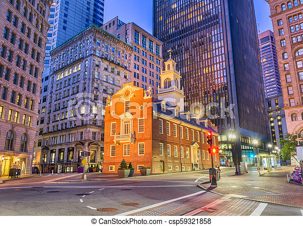 Boston, Massachusetts, USA Old State House - csp59321858