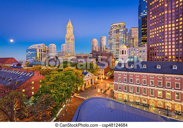 Boston, Massachusetts, USA - csp48124684