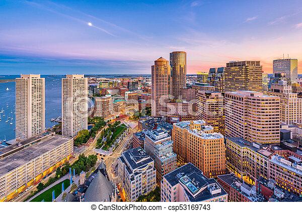 Boston, Massachusetts, USA - csp53169743