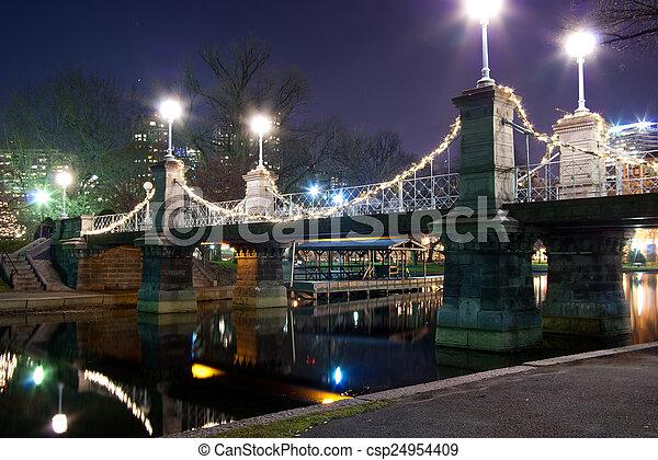 Boston Public Garden bridge - csp24954409