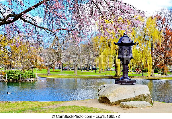 Boston Public Garden - csp15168572