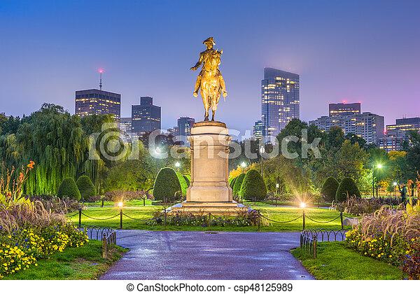 Boston Public Garden - csp48125989