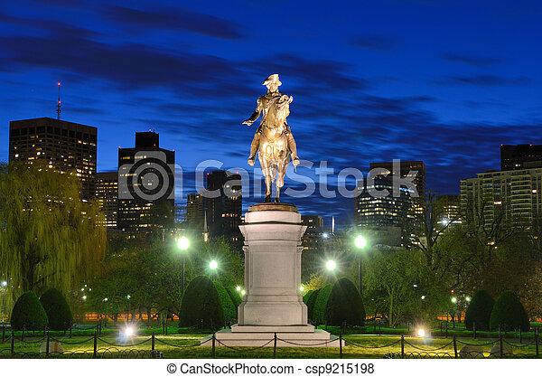 Boston Public Garden - csp9215198
