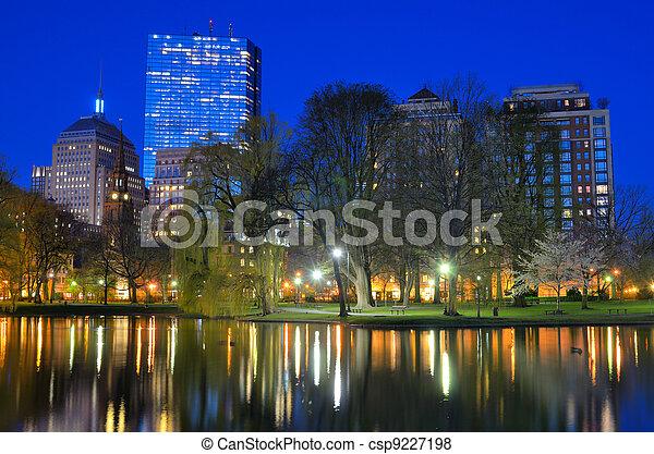 Boston Public Garden - csp9227198